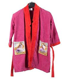 Disney Princess Print Baby Bathrobe - Pink