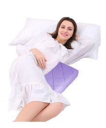 Get It Wedge Pregnancy Pillow With Quilted Cover - Purple