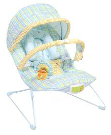 Soothing Soothing Vibrations Bouncer Checks Print - Yellow And Blue