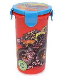 Hotwheels Tumbler With Clip On Lid Red & Blue - 480 ml