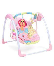 Mastela Deluxe Portable Swing Bird Print - Pink