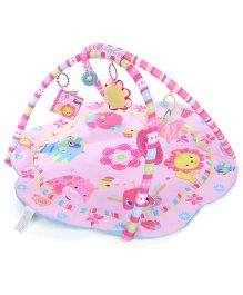 Flower Shape Baby Play Gym Animal Print - Pink