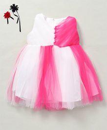Party Princess Dual Tone Tutu Dress - White & Pink