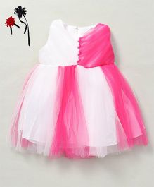 Party Princess Dual Tone Tutu Dress - White & Pink