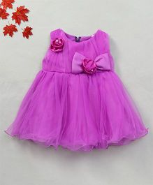 Party Princess Party Dress With Bow - Purple