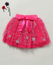 Party Princess Tutu Skirt With Glitter - Fuchsia