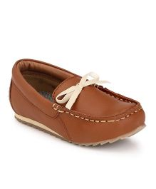 Tuskey Loafers With Bow - Blue