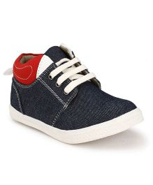 Tuskey High Ankle Shoes - Denim Blue