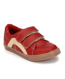 Tuskey Velcro Shoes - Red