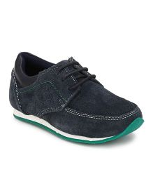 Tuskey Casual Shoes With Lace - Navy Blue