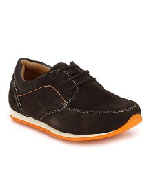 Tuskey Casual Shoes With Lace - Brown