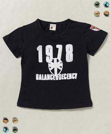 100 Kids 1978 Balance Decency Print Tee - Black