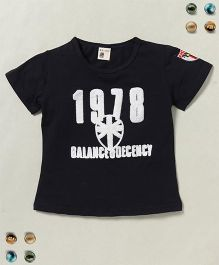 100 Kids 1978 Balance Decency Print Tee - Black