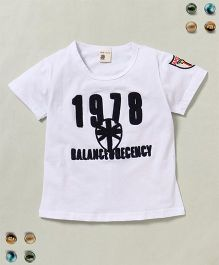 100 Kids 1978 Balance Decency Print Tee - White