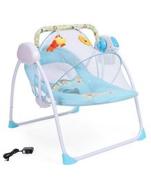 Baby Primi Portable Swing With Mosquito Net Animal Print - Blue