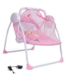 Baby Primi Portable Swing With Mosquito Net Floral Print - Pink