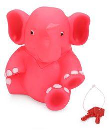 Ratnas Piggy Bank Elephant Shape - Pink
