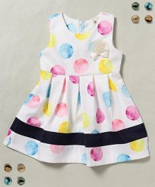 100 Kids Big Dot Print Sleeveless Dress - Multicolour