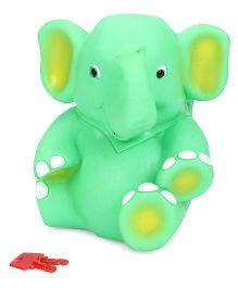 Ratnas Money Bank Elephant - Green