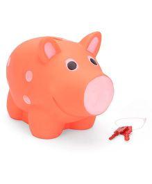 Ratnas Piggy Bank Pig Shape - Orange