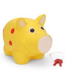 Ratnas Piggy Bank Pig Shape - Yellow