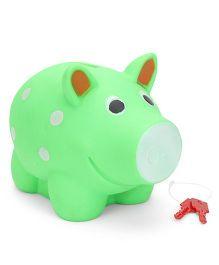 Ratnas Piggy Bank Pig Shape - Green