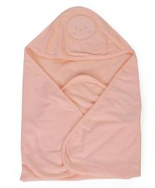 Simply Hooded Towel - Light Peach