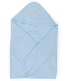 Simply Hooded Towel - Blue