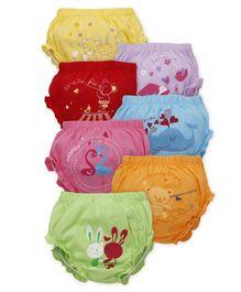 Simply Panties Printed Pack Of 7 - Multicolor