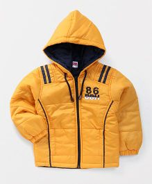 Babyhug Full Sleeves Hooded Jacket - Yellow