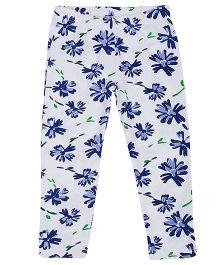 Tickles 4 U Flower Printed Leggings - Blue
