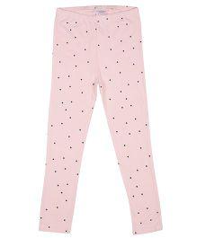 Tickles 4 U Polka Dots Leggings - Pink