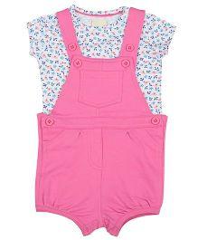 Tickles 4 U Toddlers Oneie With Printed Tees - Pink