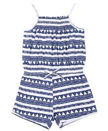 Tickles 4 U Digital Printed Jumpsuit - Blue