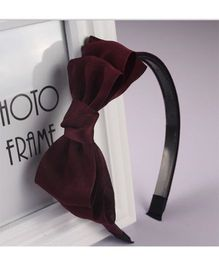 Tickles 4 U Layered Bow Hair Band - Wine Red