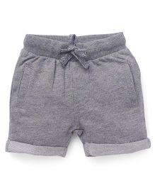 Fox Baby Shorts With Drawstrings - Dark Grey