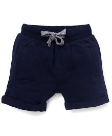 Fox Baby Shorts With Drawstrings - Navy