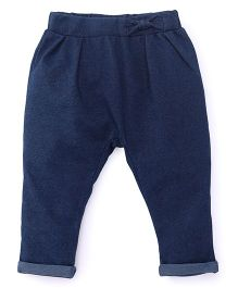 Fox Baby Trousers With Elasticated Waist - Blue