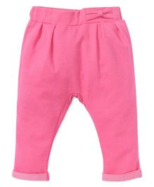 Fox Baby Trousers With Elasticated Waist - Pink
