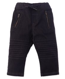 Fox Baby Trousers With Drawstring - Black