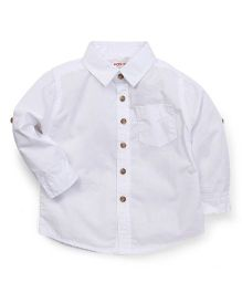 Fox Baby Full Sleeves Shirt - White