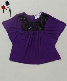 Soul Fairy Sequin Viscose Party Top - Purple