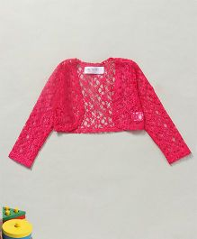 Soul Fairy Full Sleeves Lace Shrug - Pink