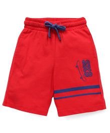 Highflier Jersey Shorts With Adjustable Waistband - Red