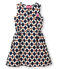 Barbie Sleeveless Dress With Elasticated Waist - Blue