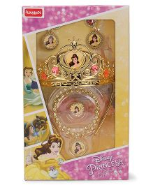 Disney Beauty & The Beast Tiera & Jewellery Set - Golden