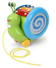 Giggles Musical Snail - Green & Blue