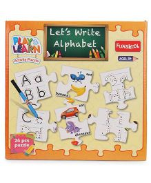 Funskool Let's Write Alphabet Puzzle Yellow - 24 Pieces