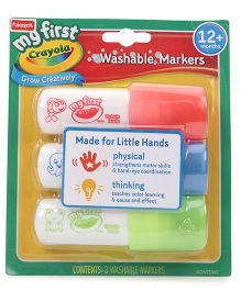 My First Crayola 3 CT Easy Grip Washable Markers - Red Blue Green