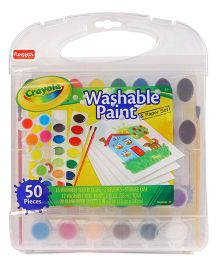 Crayola Washable Paint N Paper Set - 50 Pieces